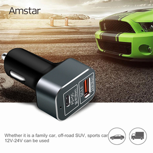 Image 5 - Amstar 60W Autolader Usb C Pd Charger Quick Charge 3.0 Snelle Auto Oplader Voor Iphone 11 Pro xs Xr X 8 Ipad Macbook Samsung 10 + 9