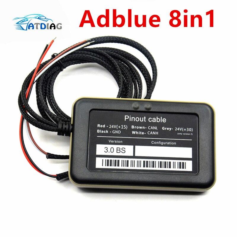 A + + Qualität Unterstützung euro 6 Professionelle Adblue 8in1 8 in 1 AdBlue Emulator V3.0 mit NOx sensor Kostenloser Versand