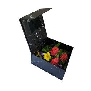 Image 5 - 양장본 꽃 비디오 상자 7 인치 2 기가 바이트 메모리 유니버설 인사말 카드 HD 시니어 선물 플레이어에 대한 소책자 매쉬를보고