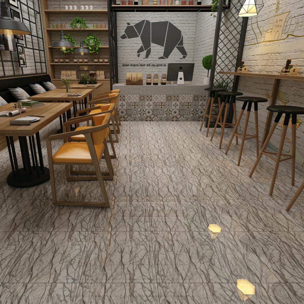 Self Adhesive Living Room Marble Wallpaper Waterproof Kitchen Bathroom Decorative Floor Decal Non-slip Ground Sticker Home Decor
