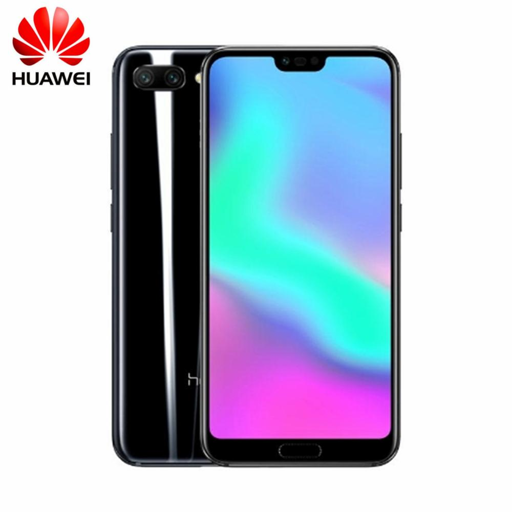 Honor 10 4+128G COL-L29 Android 8.1 Smartphone 5.84'' NFC Mobile Phone AI Processor Quick Charge 24MP Camera 3400mAh
