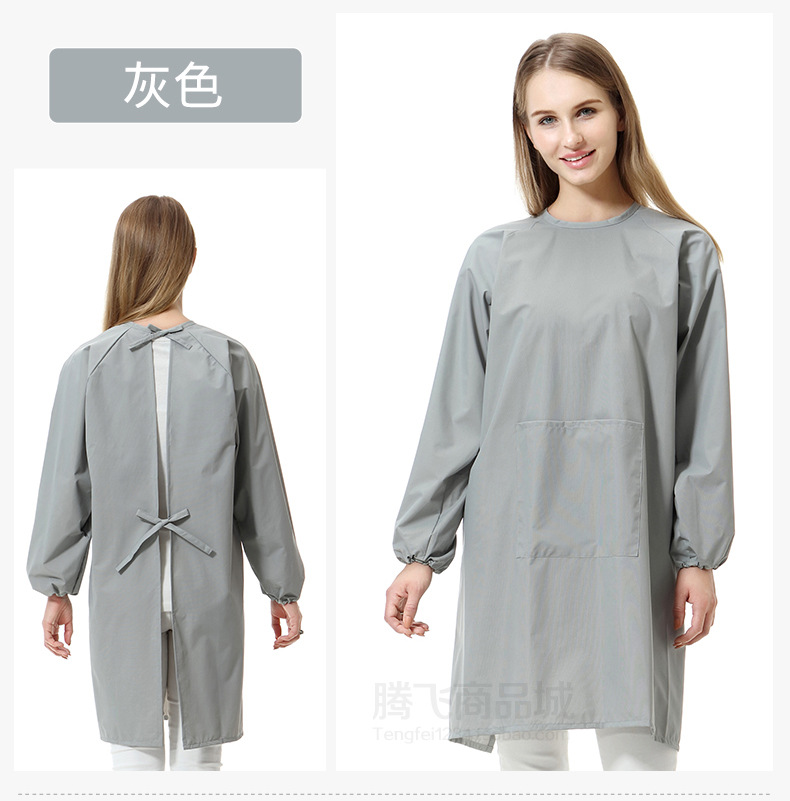 Kitchen Apron Adult Anti Wear Overclothes Kitchen Long Sleeve Waterproof Non Zipper Work Clothes Adult Long Sleeve|Oversleeves| |  - title=