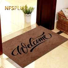 Decorative Front Door Mat Carpet Entrance Doormat for Home and Outdoors 40x60cm Polyester Fiber TPR Anti Slip Hallway Floor Mat