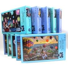1000 pces 300 pces quebra-cabeça montagem paisagem imagem puzzles brinquedos para adultos crianças jogos educativos montessori presente