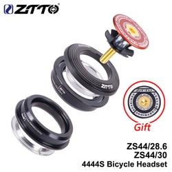 Ztto mtb road bike coluna de direção fone de ouvido 44mm 1-1/8