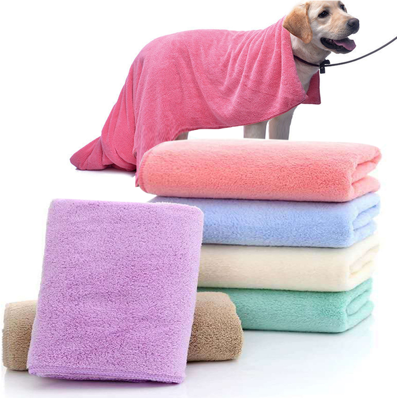 140*70cm Super-sized Microfiber Strong Absorbing Water Bath Pet Towel Soft Breathable Dog Towels For Golden Dogs Pet Accessories