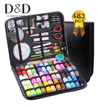 183Pcs Sewing Box Multi function Travel Sewing Kit Stitch Needle Thread Storage Bag Fabric Craft Sewing Set Best Gifts for Mom