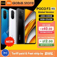Global Version POCO F3 5G 6GB 128GB/8GB 256GB Smartphone Snapdragon 870 Octa Core 6.67