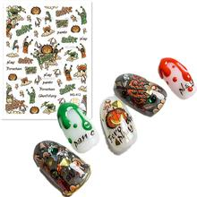 Newest MG412 halloween design 3D nail art sticker decal stamping back gule DIY nail decoration tools jetstream mg412