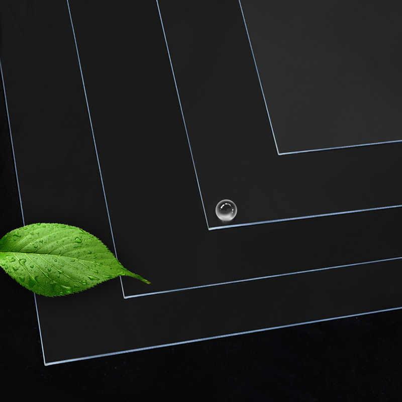 1.3mm 투명 식탁보 방수 Oilproof 부드러운 유리 PVC 테이블 천으로 주방 식탁 커버 대리석 직사각형 테이블