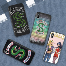 Riverdale South Side Serpents Case For iPhone XS Max XR Soft Silicone Cover For iPhone X XS 6 6S 7 8 Plus Coque Funda(China)