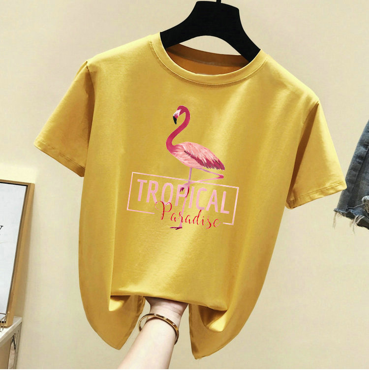Hf85d618a0ece49cc86a5752204cd55a5H - Harajuku White T shirt Women Clothes Red Summer Vintage Pink Cotton TShirt Women Tops Korean Kawaii Print Black Tee Shirt