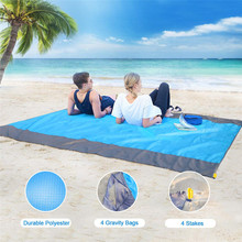 SEAAN Foldable Sand Free Beach Mat Outdoor Waterproof Picnic Blanket Rug Sandless Mattress Pad Camping Travel Pocket Summer New