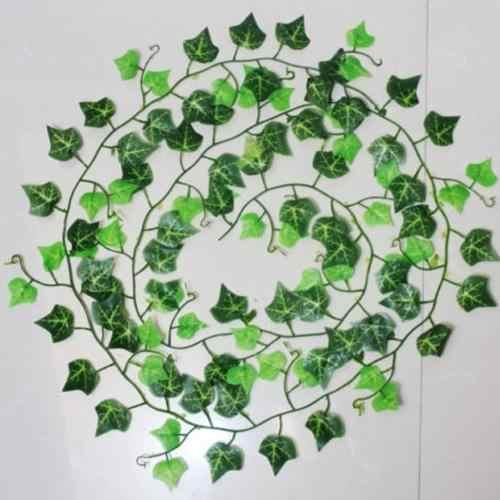 Sztuczny liść bluszczu rośliny Creeper Garland zielone rośliny sztuczne pnącze wystrój domu dekoracje ślubne w kształcie kwiatów