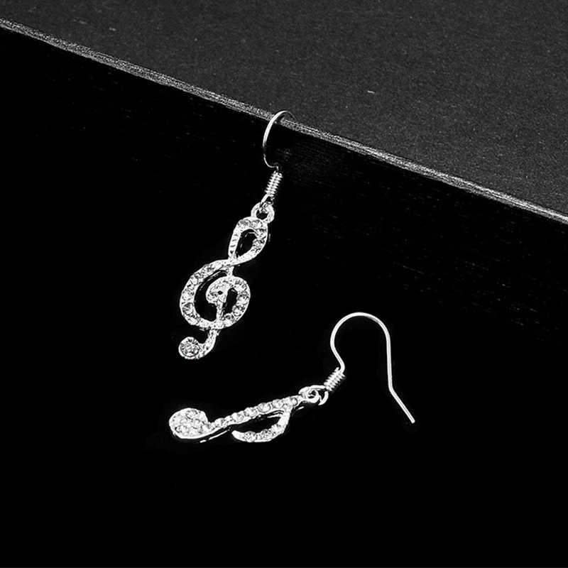 كارتر ليزا غير المتماثلة الموسيقى ميلودي الفضة قطرة استرخى أقراط للنساء فتاة الموضة الحديثة النتائج مجوهرات هدايا الحفلات