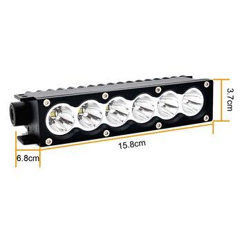 ECAHAYAKU 1pcs 7 Pollici Modulare Ha Condotto La Luce Bar 30W 6000K IP67 Per Off-road ATV 4WD Polizia-auto Di Soccorso Del Veicolo 12 V/24 V Auto HA CONDOTTO LA Lampada