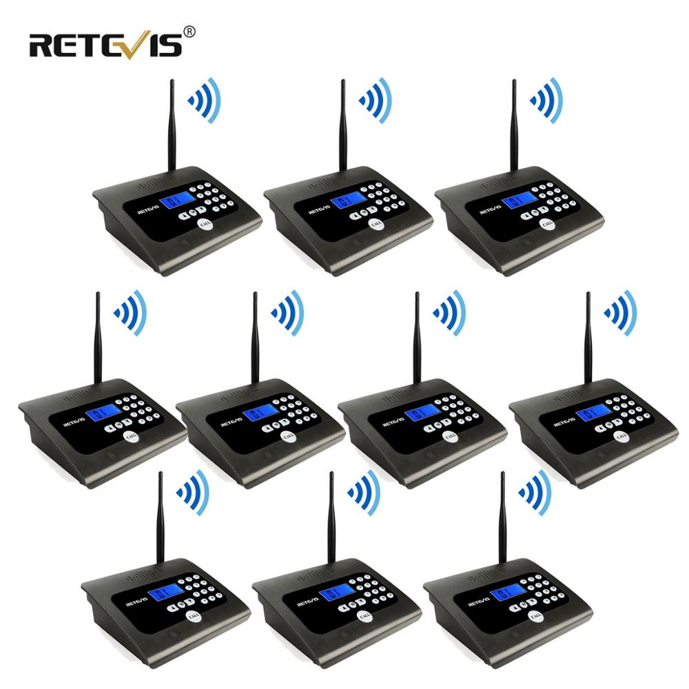 10PCS RETEVIS RT57 Duplex Indoor Wireless Calling Intercom System Business Calling Device Two-way Desktop Radio For Office/Home