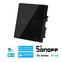 Sonoff t3 uk tx 시리즈 wifi 스마트 홈 스위치 1/2/3 gang rf 433 홈 오토메이션 swtich ewelink alexa google 홈과 호환 가능