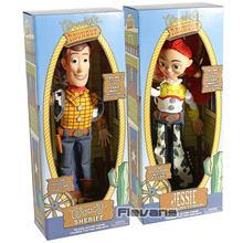 Toy Story-figuras coleccionables de Woody Jessie Buzz Lightyear Rex, muñecos de juguete parlantes
