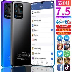 Galay S20 Mobiele Telefoons 5G Netwerk Octa Core 8Gb Ram 128Gb Rom 7.5 Inch Galax S20U Global versie Snapdragon 855 Smartphones