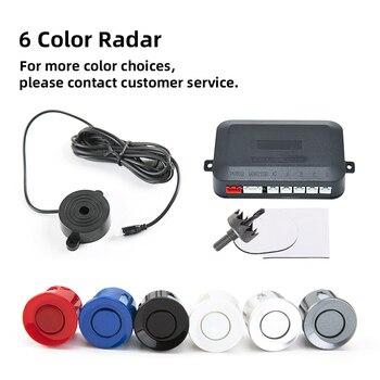 Parking Sensor Car Parking Kit Buzzer 22mm 4 Sensors Reverse Backup Radar Sound Alert Indicator Probe System 12V 6 Colors