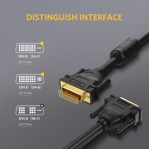 Image 4 - Câble Ugreen DVI DVI D câble vidéo mâle à mâle 2K DVI D 24 + 1 adaptateur double liaison 1m 2m 5m 10m 15m pour projecteur HDTV Cabo DVI D