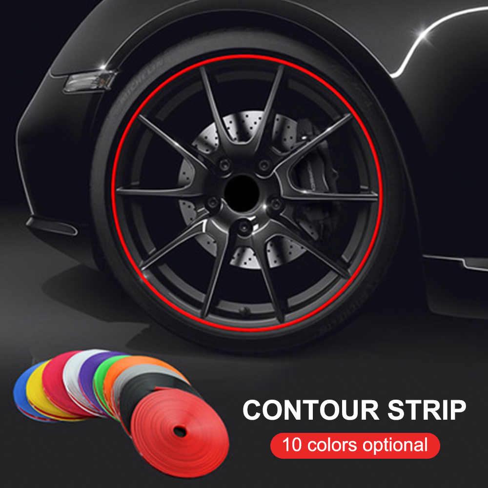 8 m/rotolo cerchioni per auto Protector Decor Strip modanatura in gomma Rimblades Car Vehicle Rim Sticker colore protezione pneumatici linea Styling
