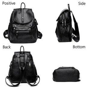 Image 3 - Women High quality leather Backpacks Vintage Female Shoulder Bag Sac a Dos Travel Ladies Bagpack Mochilas School Bags For Girls
