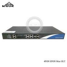 EPON Mini OLT logotipo personalizado, 1G, 4 puertos, Compatible con Hua Wei, ONU, con módulos de terminales de línea óptica de red