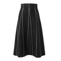 Faldas Mujer Moda 2019 Winter Women Skirt Stripe Fashion A Line Skirts Faldas Kint Skirts Womens Jupe Femme Saia Midi Streetwear