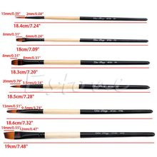 цена на 6 Pcs/Set Flat Nylon Hair Paint Brush Gouache Acrylic Oil Painting Art Craft
