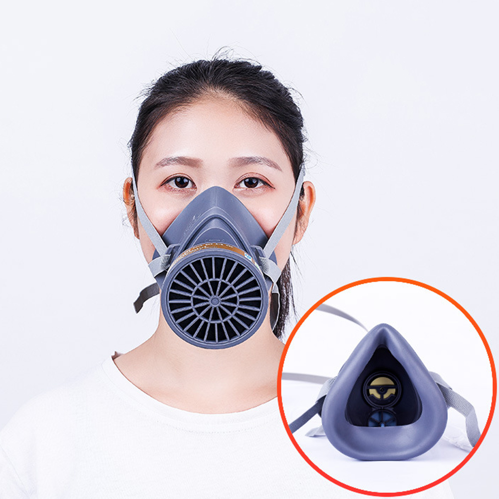 3600 Face Gas Mask Protector Cover Dustproof Anti-spray Toxic Paint Face Shield Painting Spraying Safety Mask