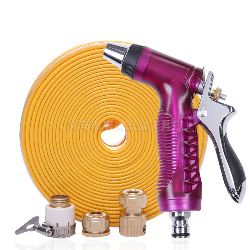 Electroplated Vehicle Cleaning Water Gun Pack Pipe Hose Household Rushed To Watering Car Squirt Useful Product High Pressure Spr