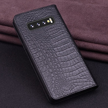 Luxury Genuine Leather Flip For Samsung S10 Plus Half Pack Phone Case S10e Cases Shockproof
