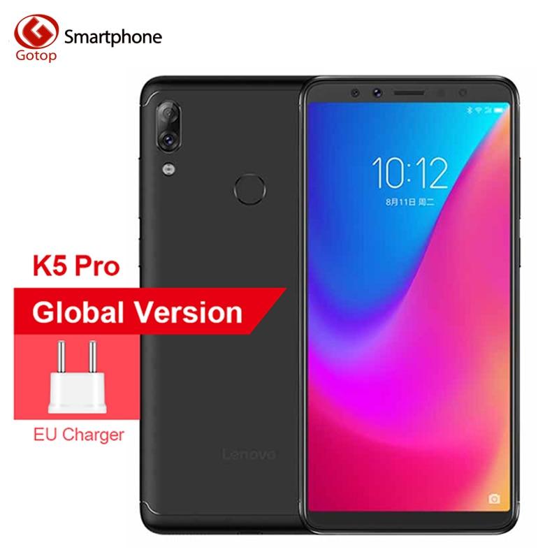 Original Lenovo K5 Pro 4050mAh 4GB+64GB Four Cameras 5.99 Inch Mobile Phone 18:9 Snapdragon 636 Octa Core 4G LTE Smartphone