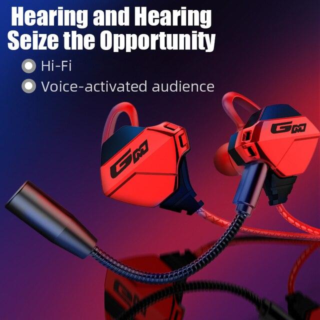 Hi Fi stéréo filaire écouteur dans loreille casque écouteurs basse écouteurs pour IPhone Samsung 3.5mm Sport jeu casque avec micro dynamique