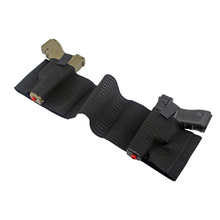 Tactical Belly Band Holster Gun Concealed Carry Pistol Pouch for 2 Pistols Waist Holder with Mag Slot Dual