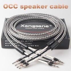 Xangsane 8TC Single Crystal Koper Audio Luidsprekerkabel Hifi Versterker Luidspreker Kabel Y-Y Banaan Plug-Banana Plug Banana Plug-Y