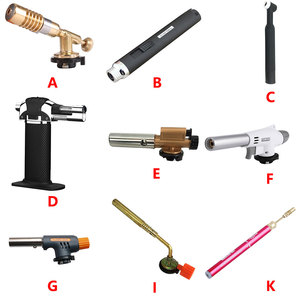 Electronic Ignition Copper Flame Butan Gas Burner Gun Maker Torch For Outdoor Camping Picnic BBQ Welding Equipment