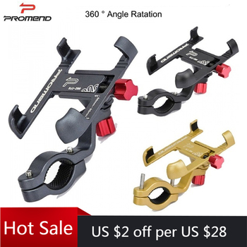 Promend 360 Rotatable Bike Mobile Phone Holder Aluminum Adjustable Bicycle Holder Non-slip MTB Phone Mount Stand Cycling Bracket