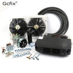 Universal de 12V 24V/C/aire acondicionado Kit para camión, Minibus Van Tractor excavadora RV excavadora AC aire acondicionado
