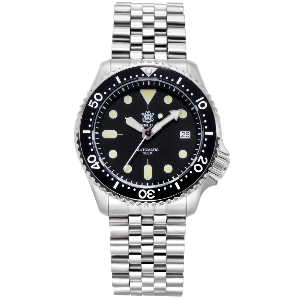 Men Automatic Diver Watch Stainless Steel Watch 200m Water Resistant Ceramic bezel Fashion Watch Luminous(China)