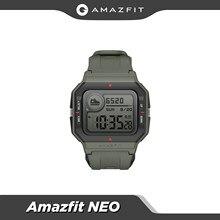 Amazfit Neo Retro Design Smartwatch 5ATM Herz Rate Überwachung Schlaf Tracking 28 Tage Batterie Lebensdauer Smart Uhr rot schwarz grün