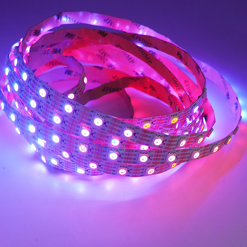 Image 5 - 5m/lot WS2815 pixel led strip light;DC12V 30/60 pixels/leds/m;IP30/IP65/IP67;Addressable Dual signal Smart led strip tape-in LED Strips from Lights & Lighting