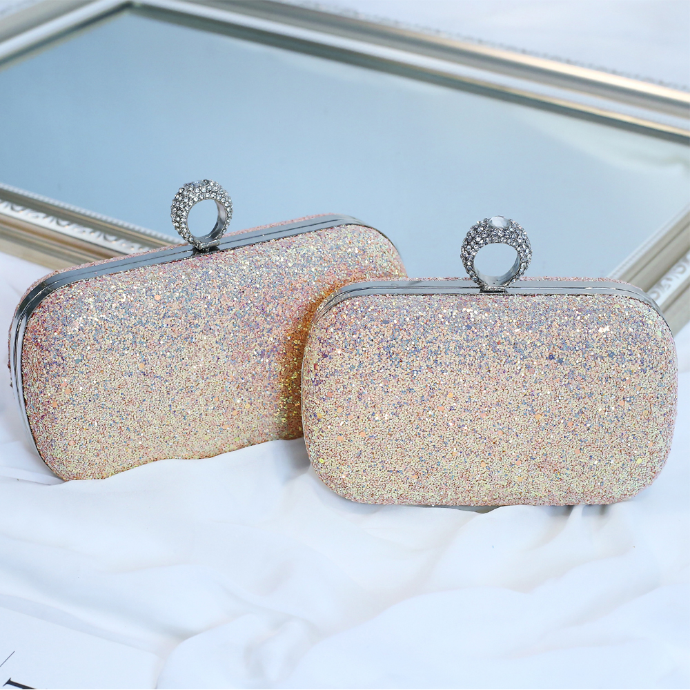 New Women/'s Shiny Glittery Evening Party Clutch Bag//Ladies Prom Wedding Purse