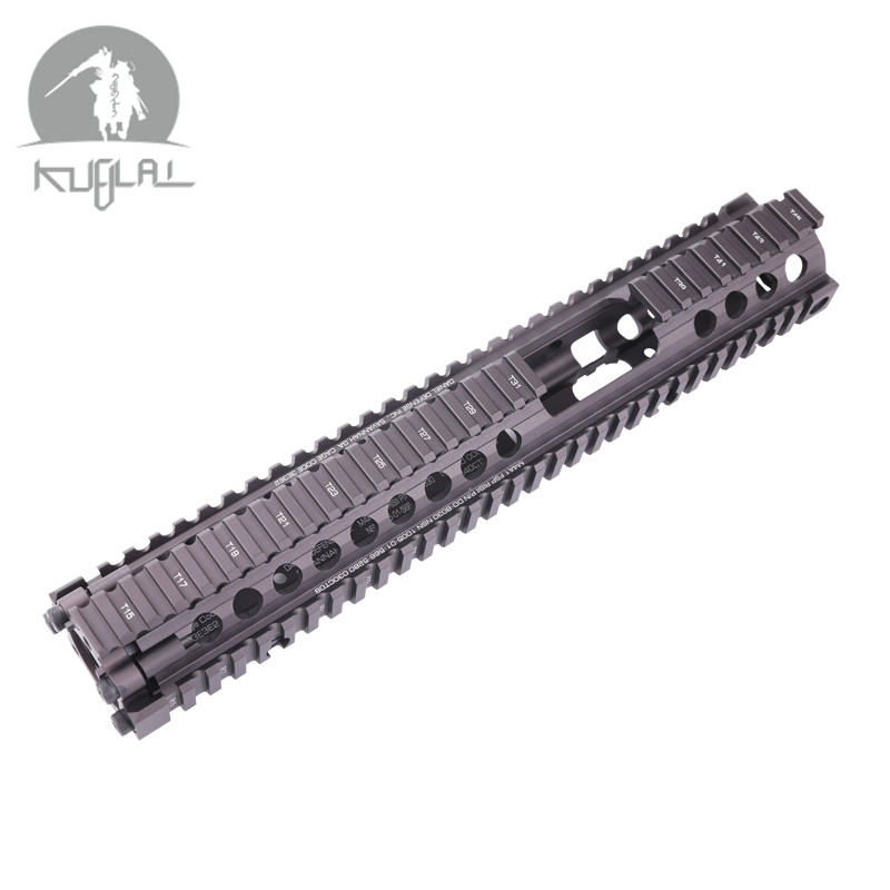 "Aluminum Hard Coat Anodized MK18 DD FSP RISII 12"" Airsoft handguard CB Tactical Rail for AEG Gel Blaster(China)"