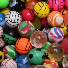10 pçs/lote Engraçado Quicando Bolas de Brinquedo Flutuante Mista Bola de borracha Sólida Criança Bola De Borracha Elástica De Pinball Brinquedos Insufláveis