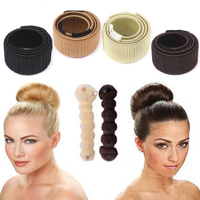 2x Foam Sponge Magic Hair DIY Styling Donut Bun Curler Maker Twist Tools