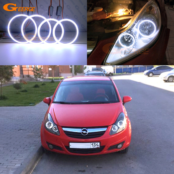 For Opel Vauxhall Corsa D 2006 2007 2008 2009 2010 2011 pre Facelift Excellent Ultra bright COB led angel eyes kit halo rings