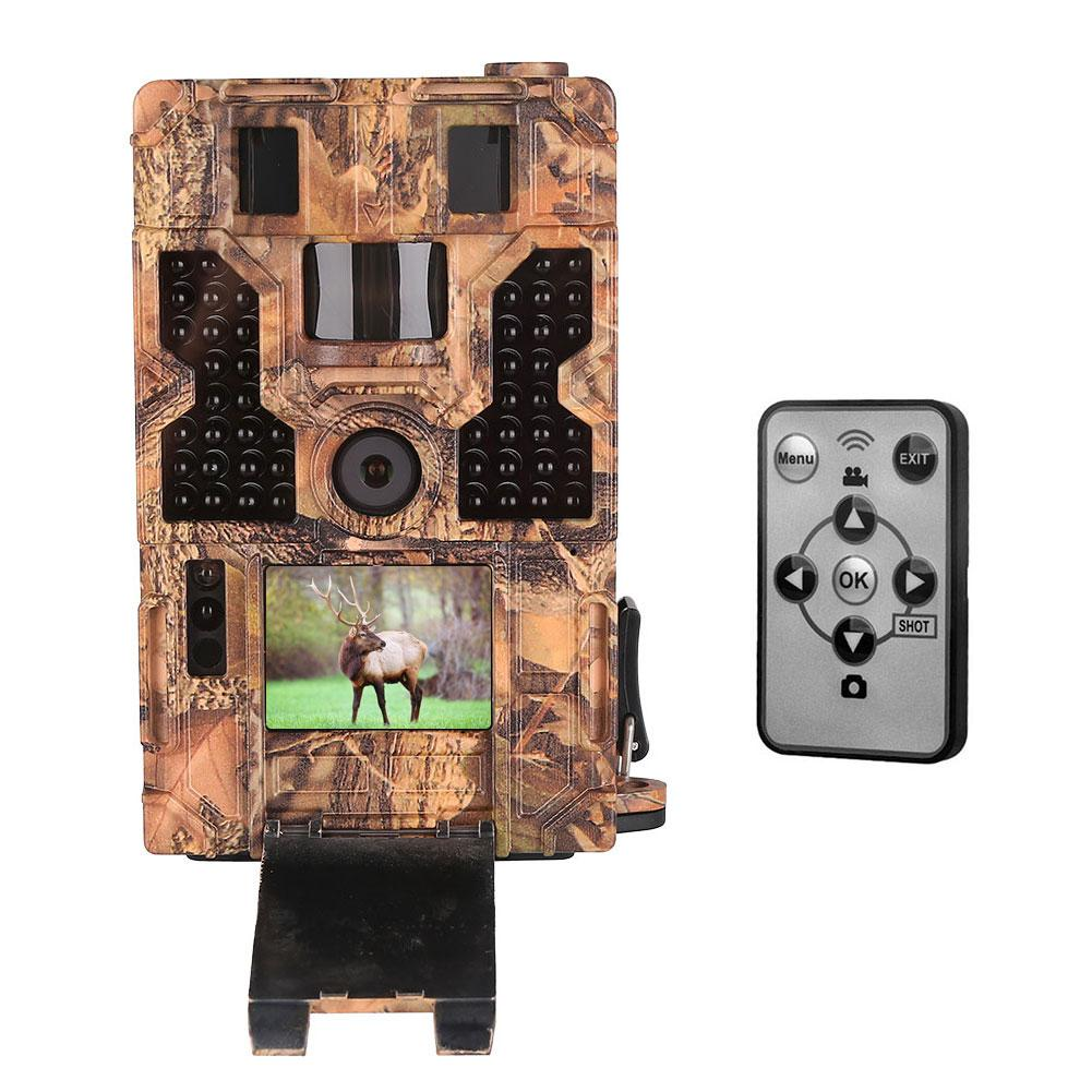 Outdoor Hunting 20MP 1080P Game Camera With Night Vision Motion 3PIR 42IR LEDs 120 Detecting Range Cams For Wildlife Security image